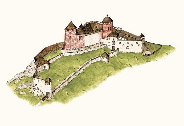 čachtický hrad rekonštrukcia - Autor historickej rekonštrukcie: Ing. arch. Martin Bóna