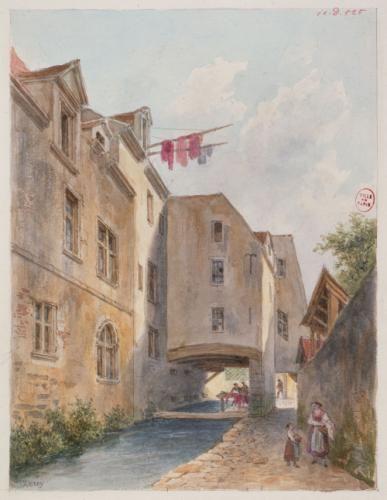 Teinturerie des Gobelins sur les bords de la Bièvre, actuel 13ème arrondissement   Paris Musées