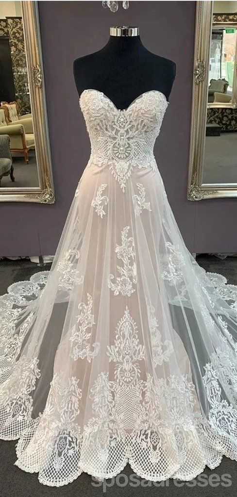 Sweetheart Lace Cheap Wedding Dresses Online Cheap Bridal Dresses Wd634 In 2020 Online Wedding Dress Cheap Wedding Dresses Online Cheap Bridal Dresses