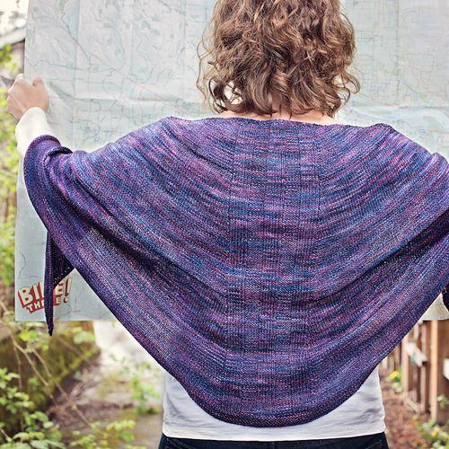 Knitting Freelance : Rambler s shawl by katherine leek in malabrigo sock abril