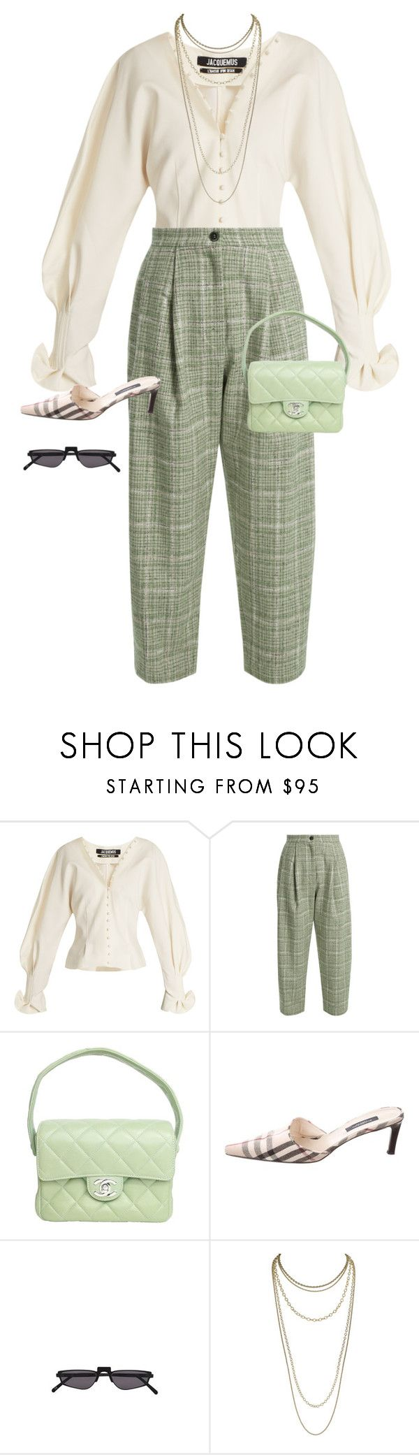 """""""geila higyno"""" by clue ❤ liked on Polyvore featuring Jacquemus, Natasha Zinko, Chanel, Burberry, Andy Wolf and Scott Kay"""