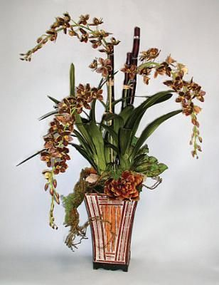 33 best entry images on Pinterest Silk flowers, Topiaries and - silk arrangements for home decor