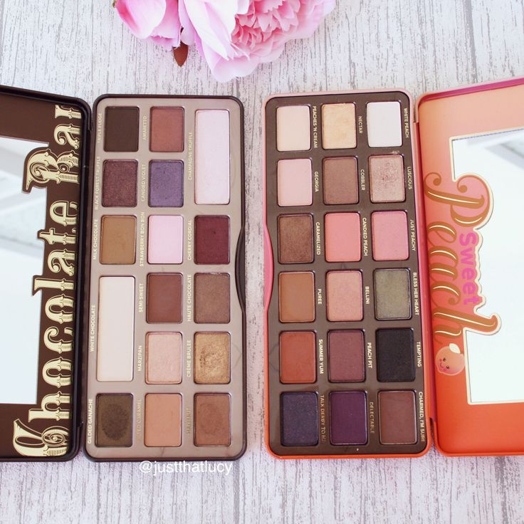 Too Faced Chocolate Bar Palette and Too Faced Sweet Peach Eyeshadow Palette : chocolate box palette - Aboutintivar.Com