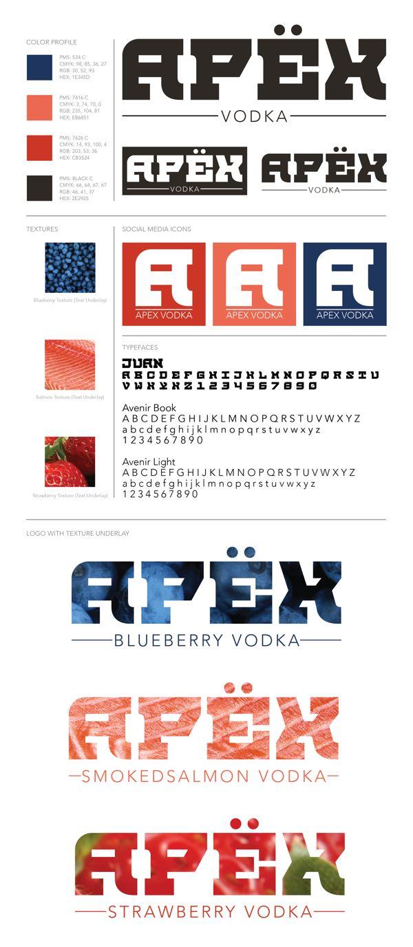 Apex Vodka Brand by Luke Sohl, via Behance