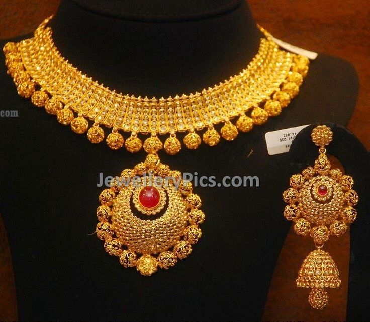 traditional  gold beaded diamond set