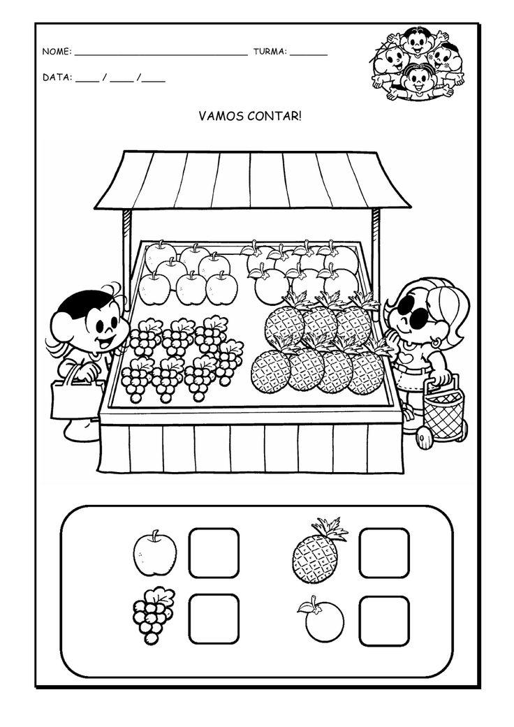 Alfabetizando com Mônica e Turma: Vamos contar - Atividade com o número 7