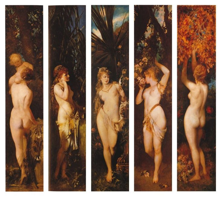 The Five Senses: Hearing, Smelling, Tasting, Seeing, Touching 1872 - 1879 - Hans Makart