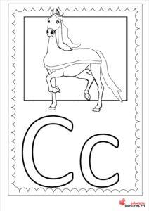 Litera C - planșă de colorat