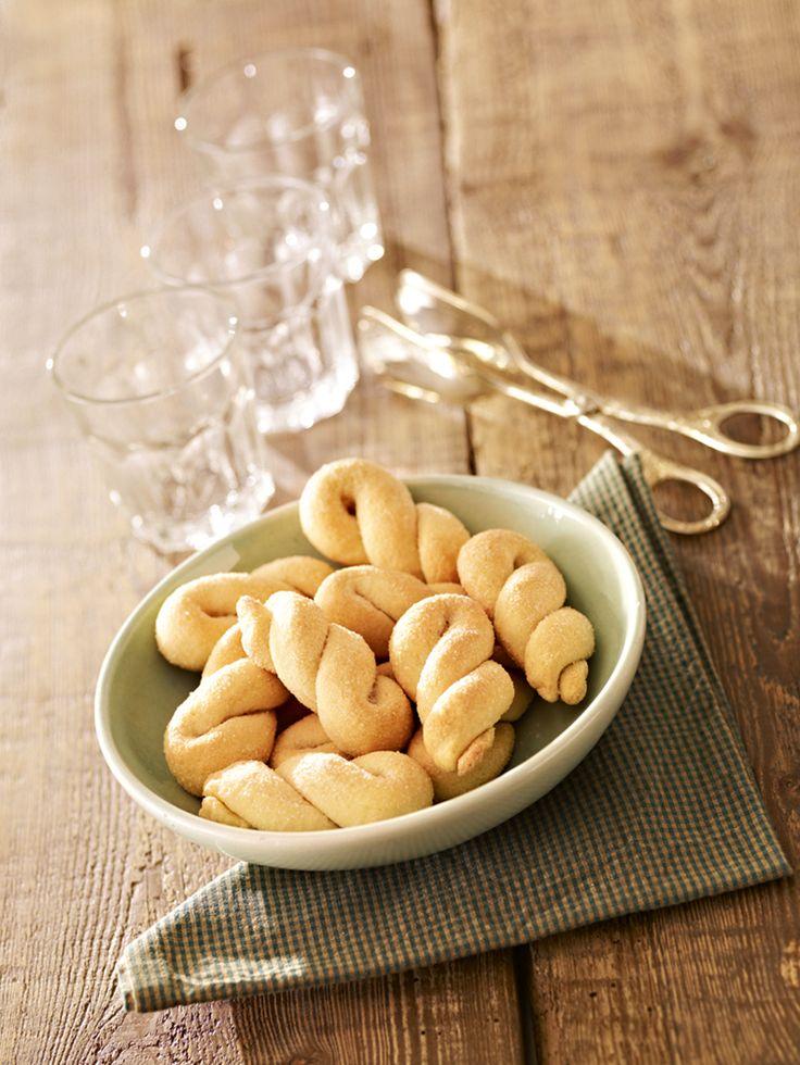 Mini-Flachswickel -  Kleines Hefegebäck in Zucker gewälzt zum Frühstück oder für die Kaffeetafel
