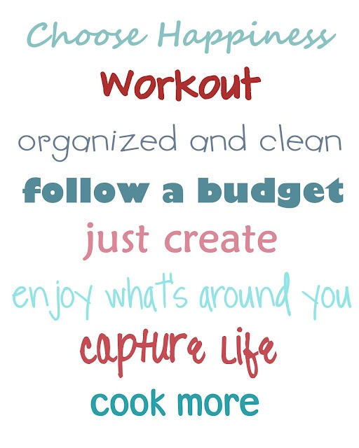 new year resolutions!! <3
