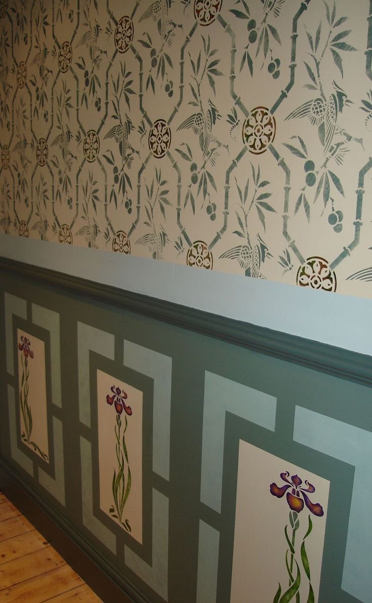 1335 best craft stencils images on pinterest crafts painting stencilled wall with stencils by the stencil library colours inspired by the william morris rooms amipublicfo Image collections