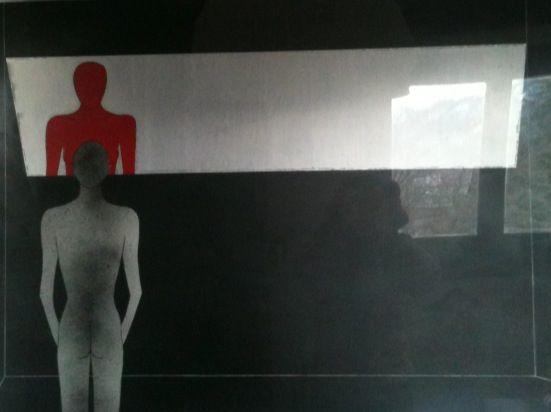 Riflessioni - Vernice su formica 100x50