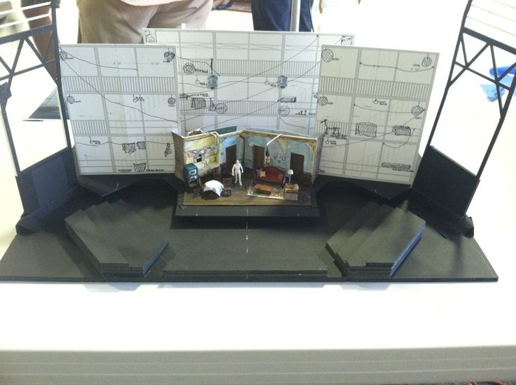 A model of the set for A Raisin in the Sun, from Scenic Designer Dede Ayite. Can you envision it at the Bruns?: Design Dede, Scenic Design, Dede Ayit