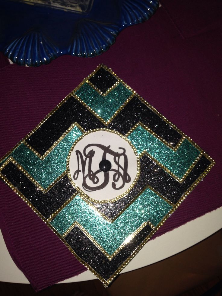 """We love this CCU teal, black, and bronze graduation cap that will surely mark the start of a bright future! Re-pinned from Laurel Brielle: """"Coastal Carolina University Graduation Cap!"""""""