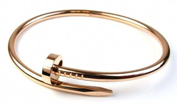 Stainless Steel Nail Style Love Bangle Bracelet Oval High Polish Bangle Love Nail Bracelet Is 4mm Thicknes Screw Bracelet Nail Bracelet Classic Bracelets