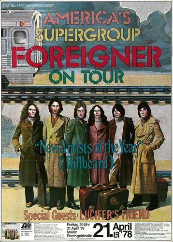 Foreigner Concert Poster https://www.facebook.com/FromTheWaybackMachine