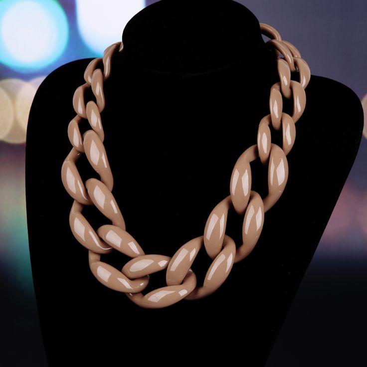 Joyería de moda choker collar collar del acoplamiento de cadena de plástico de las mujeres maxi collar de color de invierno