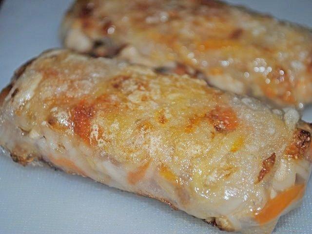 Тайские спринг роллы с курицей и креветками