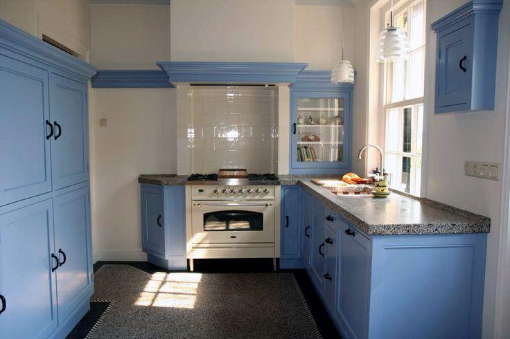 Blauwe Keuken Marktplaats : Kitchens with Terrazzo Floors