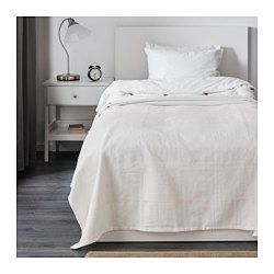 """IKEA - INDIRA, Bedspread, 59x98 """", , This woven cotton bedspread gives your bed a vibrant, decorative look and extra warmth and comfort for you."""