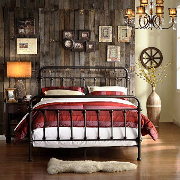 10 amazing wrought iron farmhouse beds on amazon - Wrought Iron Bed Frame