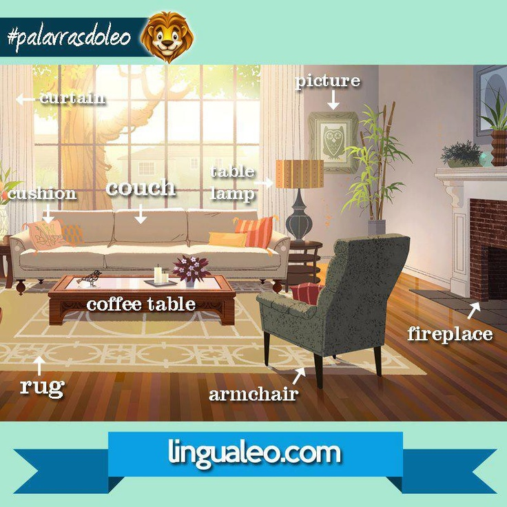 11 best living room images on pinterest learning english for Living room vocabulary