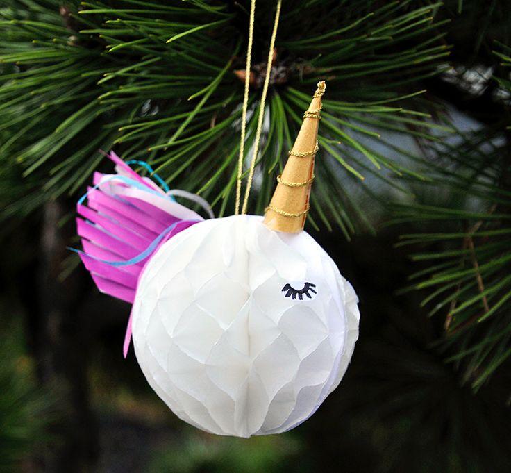 miss red fox: Die Einhörner sind los!Geschenke, Geschenkanhänger und Weihnachtsbaumkugeln - DIY #Unicorn Christmas tree balls and unicorn gift tags