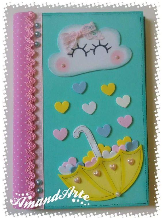 Como Decorar Un Cuaderno Con Foami Para Niña Cuadernos