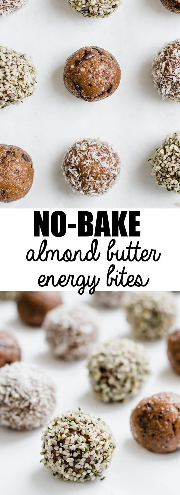 These no-bake almond butter energy bites area a healthy snack that is easy to make! They are also vegan, gluten-free, and paleo!