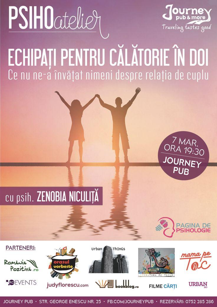 PSIHOatelier: Echipați pentru călătorie în doi, cu psih. Zenobia Niculiță