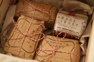 Wonderful packaging. Wishing I was a soap maker!