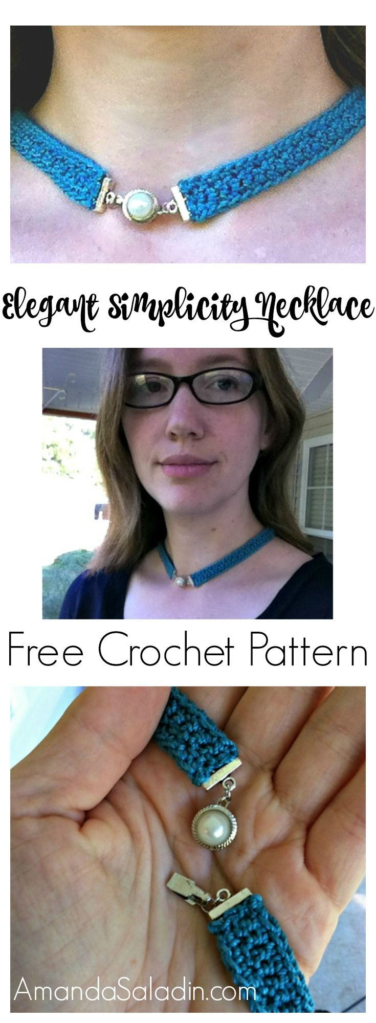 Free Easy Crochet Pattern - Elegant Simplicity Necklace