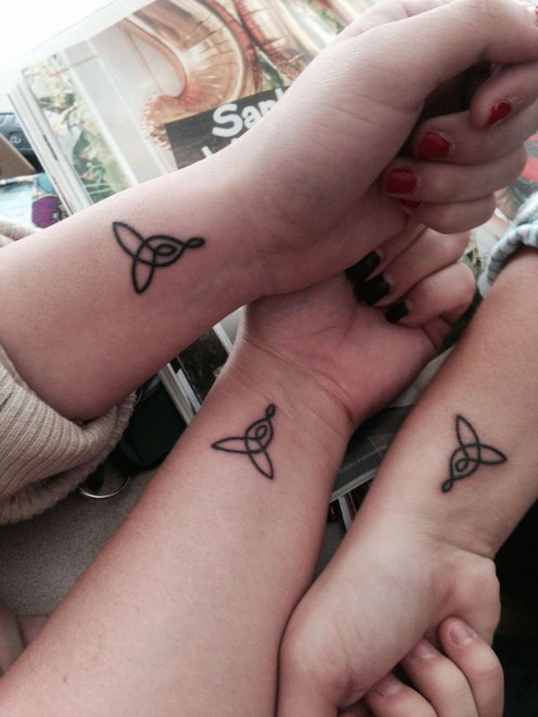 Triquetra knot tattoos for sisters - 50  Sister Tattoos Ideas  <3 <3