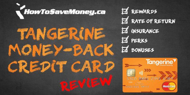 Get unlimited 2% cash back on up to 3 spending categories YOU get to choose. The Tangerine Money-Back Credit Card is the most innovative cash back card on the market.