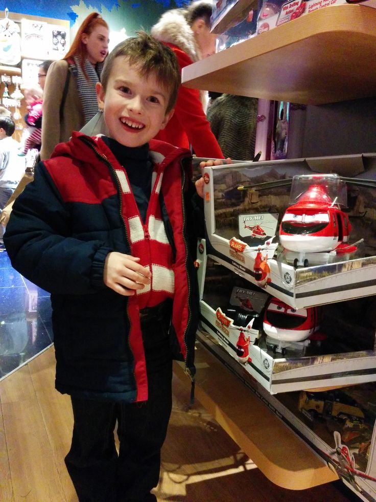 Red helicopter, discovered on a shelf in Disney Store, Grafton Street, Dublin.