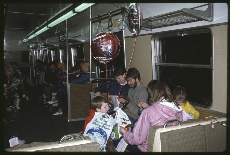 Travelling home on Melbourne PT in 1982.