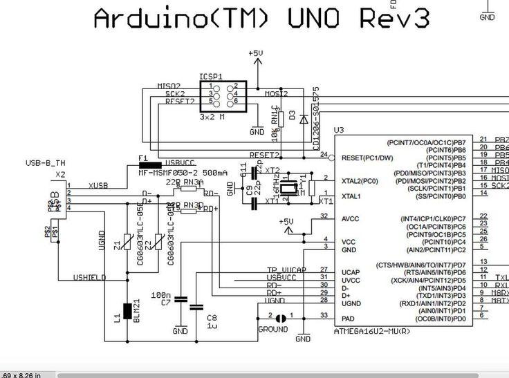 arduino uno rev3  schematic  arduino  schematic  opensource  circuit  free  openhardware  mcu