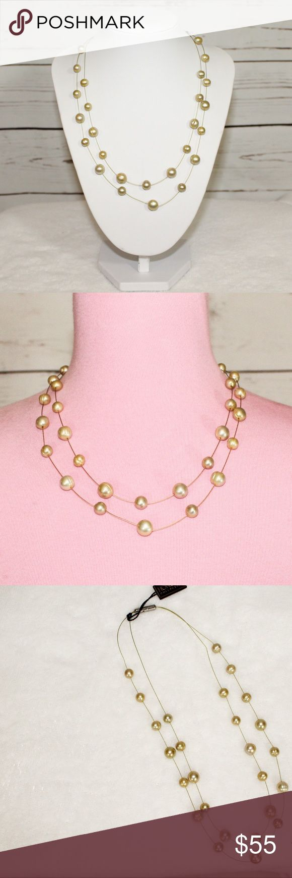 Honora Double Strand Freshwater Pearl Necklace NWT Honora Double Strand Freshwater Cultured Pearl Necklace. NWT. Very elegant and beautiful. This would be a great idea for a holiday or Christmas gift,  This would also be great to wear to a holiday or New Year's Eve party. Honora Jewelry