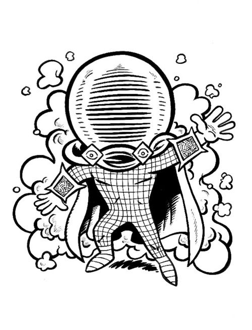 mysterio spiderman coloring pages - photo#41