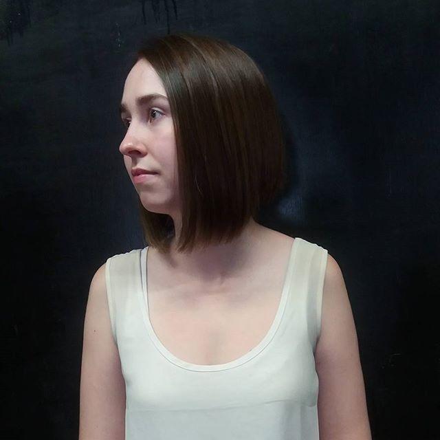 Corte por @natafreire para María José  #bobstdo #bobheadnati #haircut #hairstyle #womenhaircut #lastarria #scl