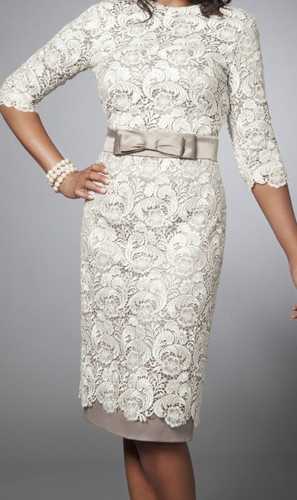 Lev Collection LV0180 Tznius Dress modest Lace Cocktail Dress Ivory | eBay