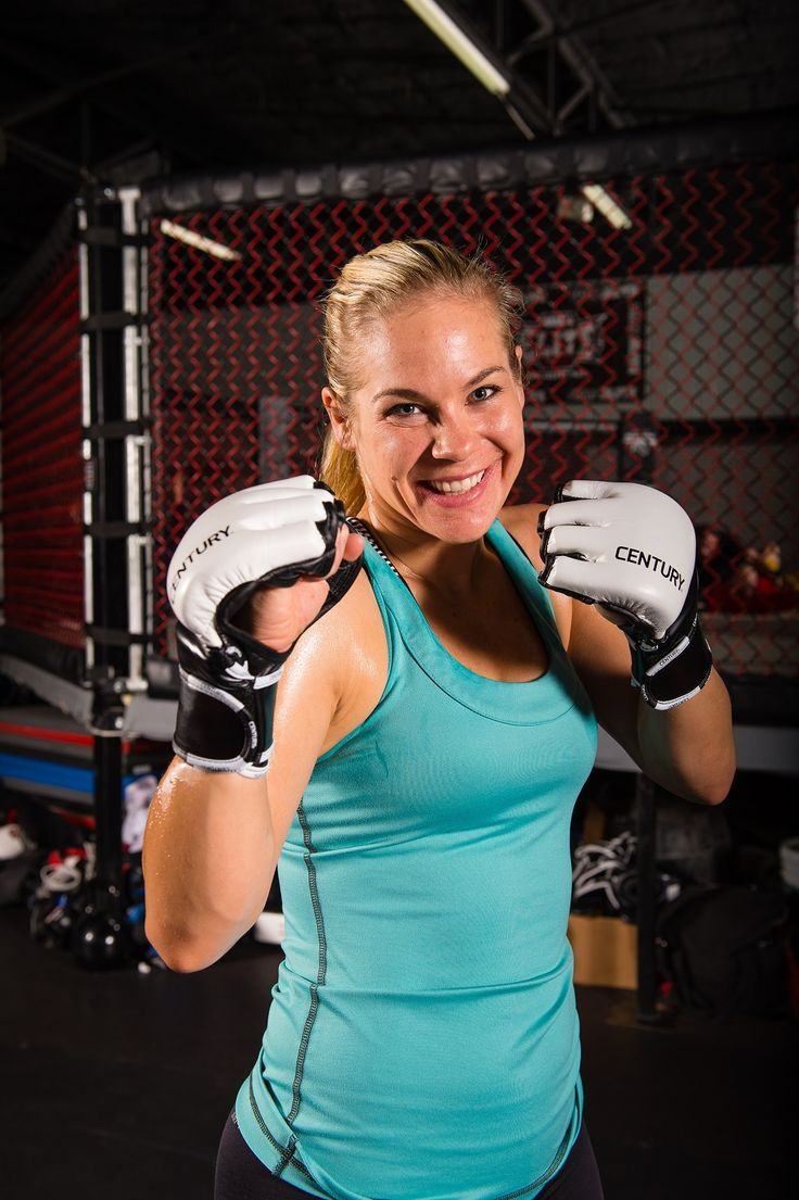 Julie Kedzie ready to rock with a pair of Century CREED MMA Training Gloves.