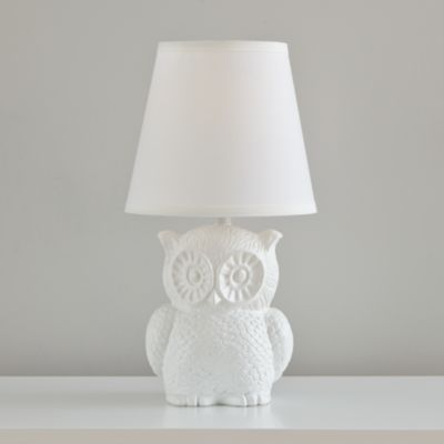 Owls are so cute - Not So Nocturnal Table Lamp  | The Land of Nod