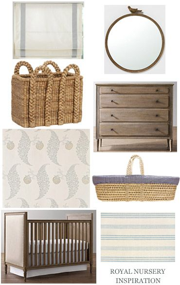 Nursery for a Royal Baby. Click through to see the items from this inspiration board. #nursery