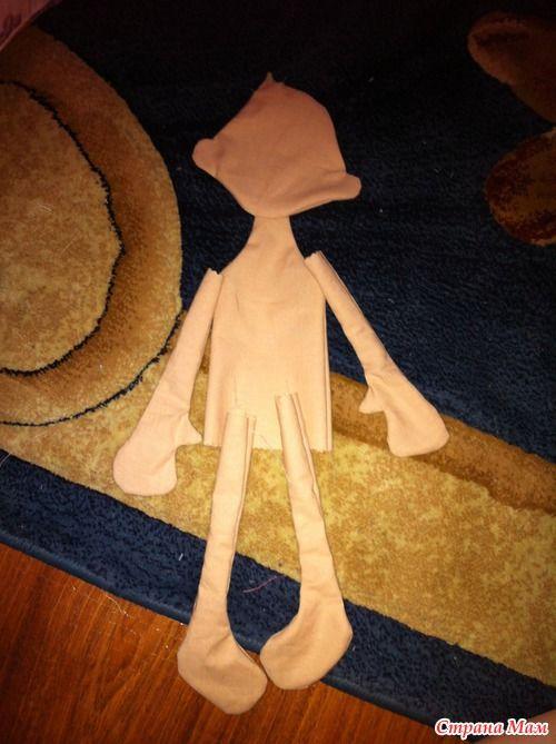 МК или СП... Кукла Ангелушка. Часть 1. Выкройка и тело.
