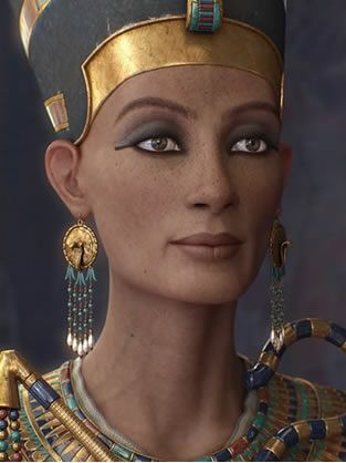 Some historians think that she was a princess from Mitanni (current day Syria) while others believe that Nefertiti was Egyptian born.