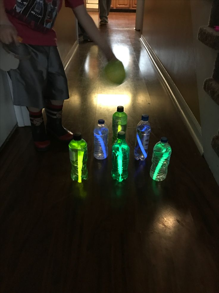 Glow in the dark bowling. Just put glow sticks in water bottles.