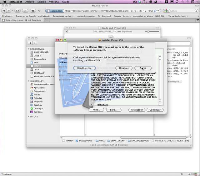 Bajar e instalar Xcode de Apple developers by gnomalab. mini tutorial para los alumnos del Taller de VDMX + QTZ en NIU BCN.