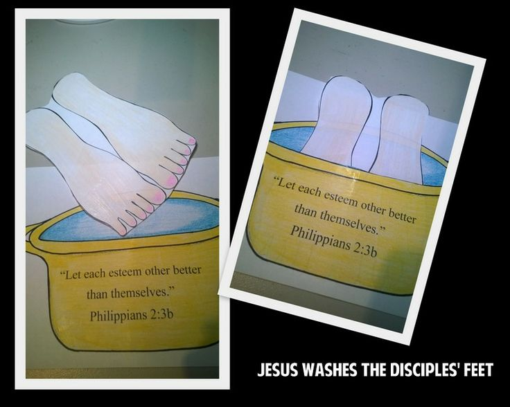 Jesus Washes The Disciples Feet Children S Church Craft