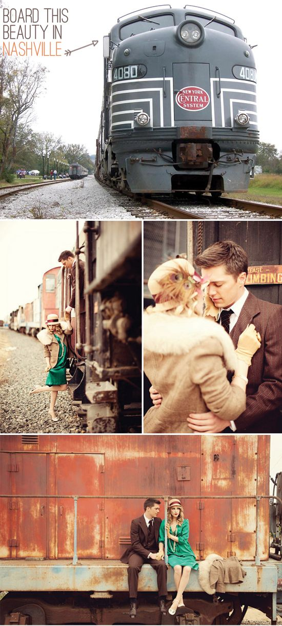 1940's Vintage Train Photo Shoots